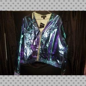 NWT oil slick jacket
